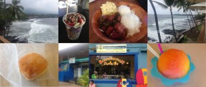 The top end photos are views from Daylight Mind Coffee Company. The top middle photos are Basik Cafe and Umeke. From left to right, the bottom photos are Holy Donuts and Scandinavian Shave Ice.
